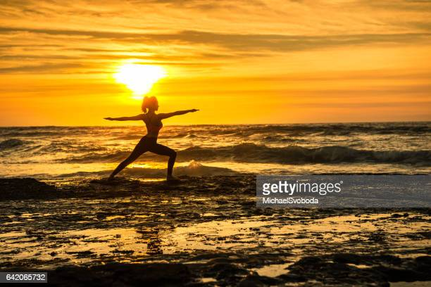Ocean Yoga In Golden Light