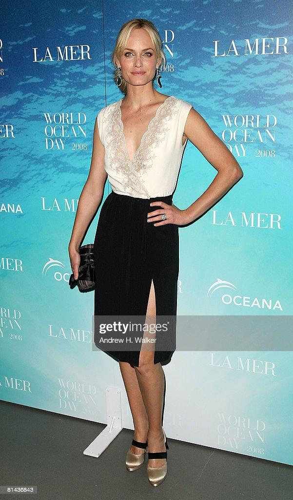 Oceana spokesperson and model Amber Valletta attends the La Mer and Oceana celebration for World Ocean Day 2008 at 620 Loft Garden June 4 2008 in New...