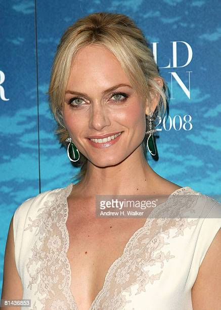 Oceana spokesperson and model Amber Valletta attends the La Mer and Oceana celebration for World Ocean Day 2008 at 620 Loft Garden June 4 2008 in New...