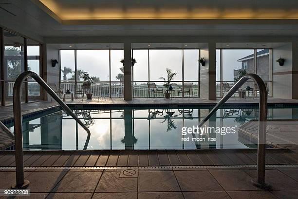 Oceanfront indoor swimming pool