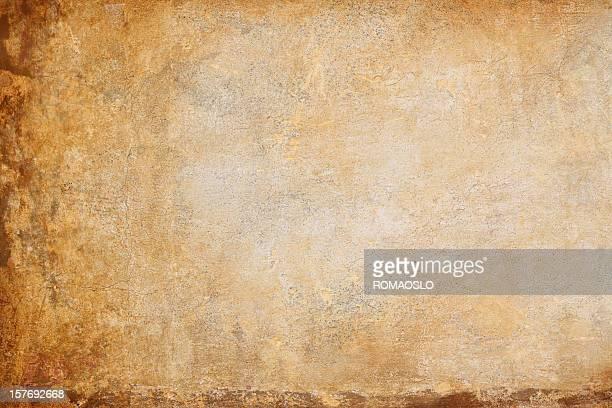 Ocker gelbe Römischen Mauer Textur, Rom, Italien