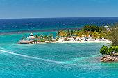 The lovely tropical island of Ocho Rios, Jamaica in the Caribbean