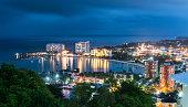 Evening view of Ocho Rios, Jamaica.