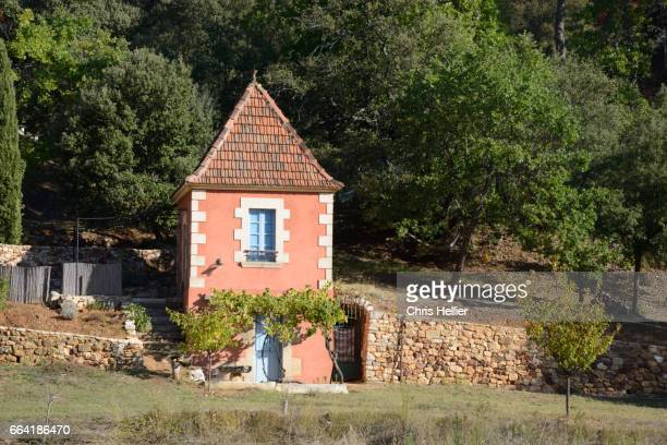 Ochre-Colored Hut or Cabanon Roussillon Provence