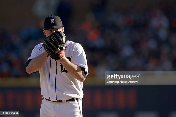 Oct 14 2006 Detroit MI USA MLB Baseball The Oakland Athletics against the Detroit Tigers Jeremy Bonderman during game four of the American League...