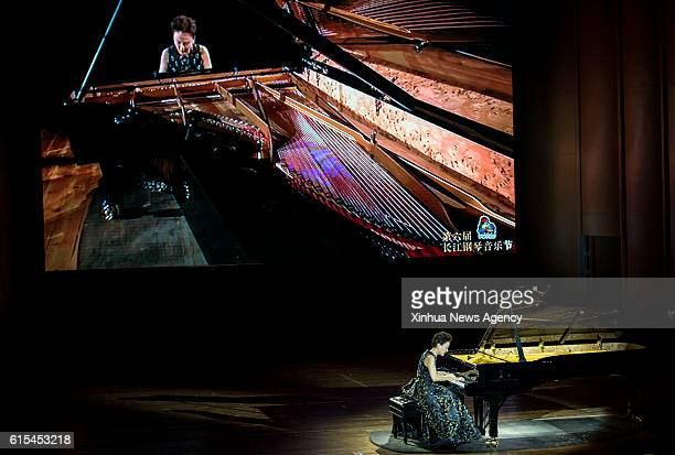 YICHANG Oct 17 2016 Pianist Yang Shanshan performs during the 6th Yangtze River Piano Music Festival in Yichang central China's Hubei Province Oct 17...