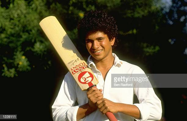 Portrait of Sachin Tendulkar of India before the Test series against Pakistan in India Mandatory Credit Ben Radford/Allsport