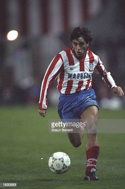 Paulo Futre of Atletico Madrid in action during a Spanish League match Mandatory Credit Shaun Botterill/Allsport