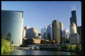 View of Chicago Illinois Mandatory Credit Jonathan Daniel /Allsport