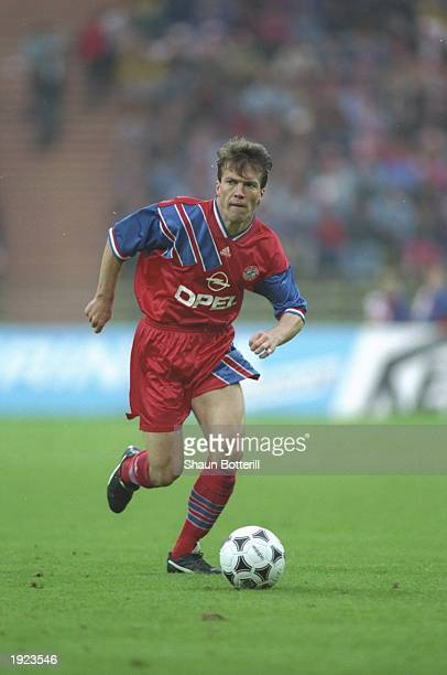 Lothar Matthaus of Bayern Munich in action during a match Mandatory Credit Shaun Botterill/Allsport