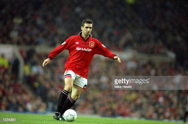 Eric Cantona of Manchester United in action during an FA Carling Premiership match against Newcastle United at St James'' Park in Newcastle England...