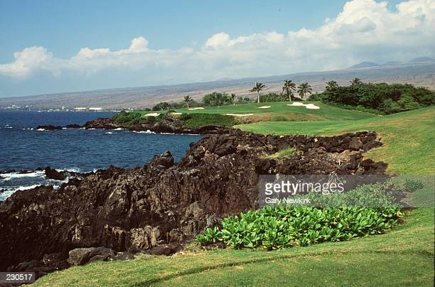 Scenic shot of the 3rd hole of Mauna Kea Golf Course on the Kohala Coast of Hawaii Mandatory Credit Gary Newkirk/ALLSPORT