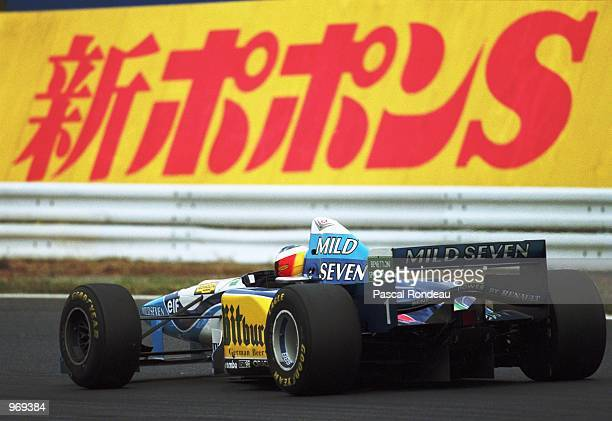 Benetton driver Michael Schumacher of Germany in action during the Japanese Formula One Grand Prix held in Suzuka Japan Mandatory Credit Pascal...