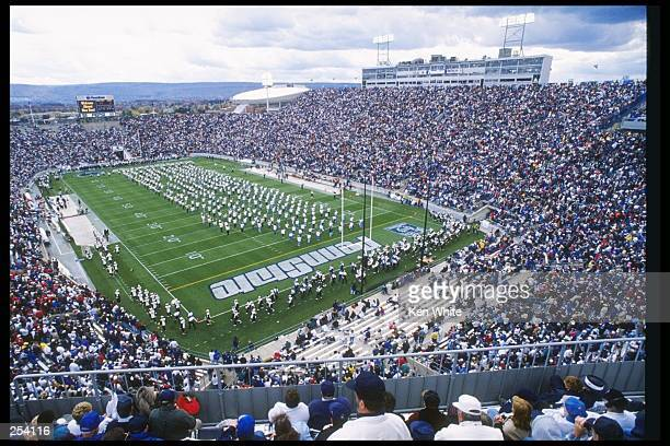 View of a game between the Indiana Hoosiers and the Penn State Nittany Lions at Beaver Stadium in University Park Pennsylvania Penn State won the...