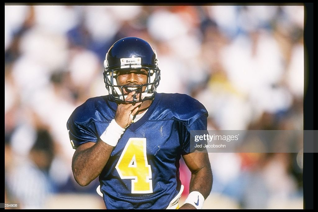 Wide receiver Na''il Benjamin of the California Bears stands on the field during a game against the California at Los Angeles Bruins at Memorial...