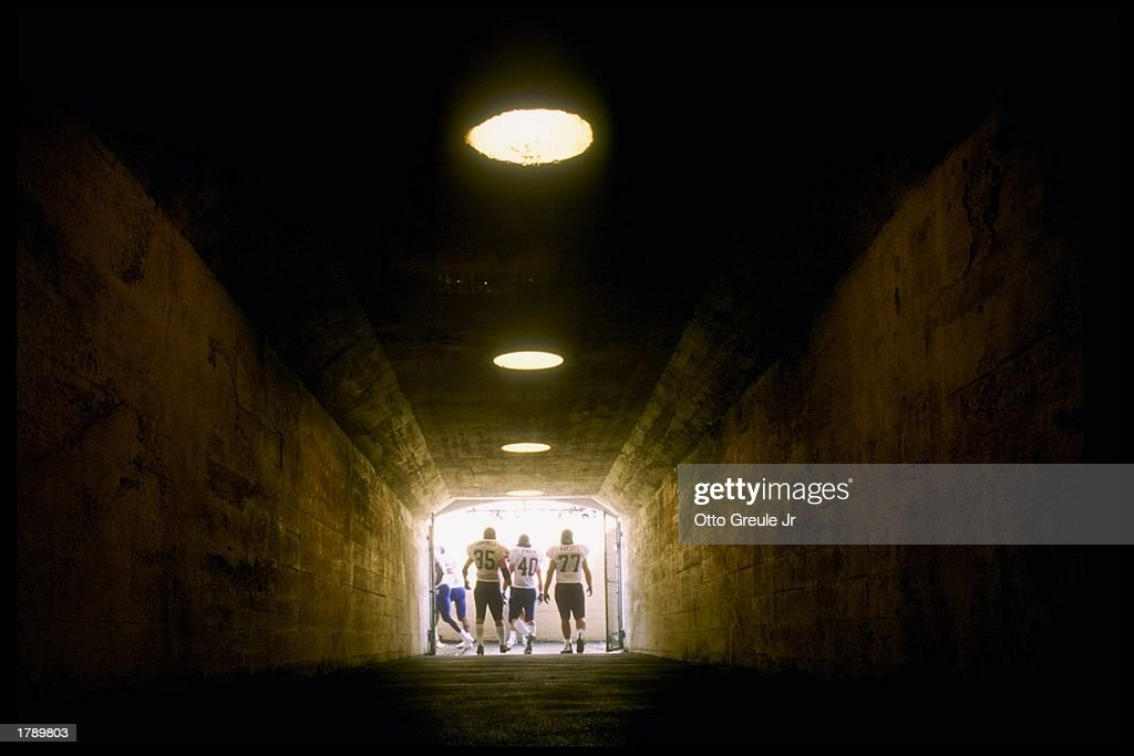 General view of the stadium tunnel during a game between the Washington Huskies and the California Bears at Memorial Stadium in Berkeley California...