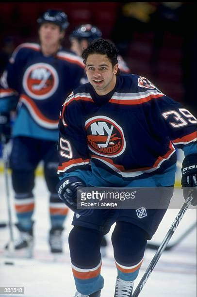 Travis Green of the New York Islanders in action during a game against the Montreal Canadiens at the Molson Center in Montreal Canada The Islanders...
