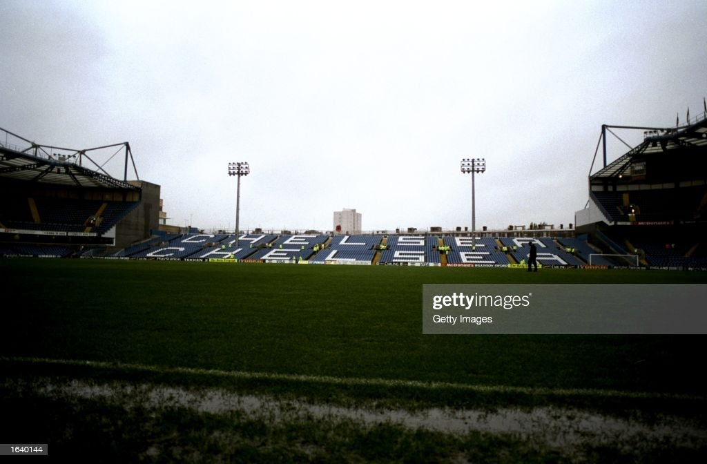 A waterlogged pitch at Stamford Bridge causes the FA Carling Premiership match between Chelsea and Aston Villa to be postponed in London Photo Chris...