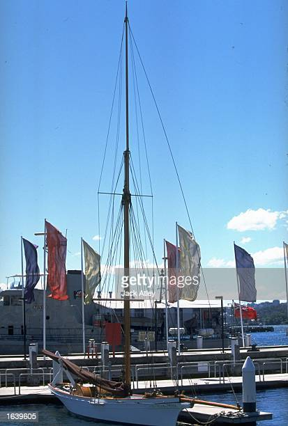 Akarana built in 1888 moored at the Classic and Wooden Boat Show Darling Harbour in Sydney Australia Mandatory Credit Jack Atley /Allsport