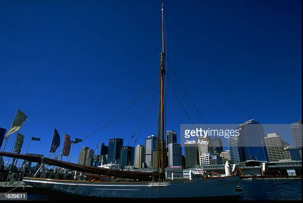 Akarana built in 1888 on show at the Classic and Wooden Boat Show Darling Harbour in Sydney Australia Mandatory Credit Jack Atley /Allsport