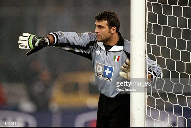 Angelo Peruzzi of Juventus in action during the Italian Serie A match against Inter Milan at the Delle Alpi Stadium in Torino Italy Juventus won the...