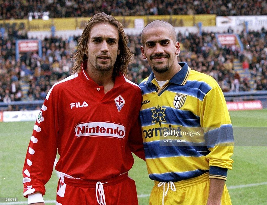 Gabriel Batistuta and Juan Sebastian Veron