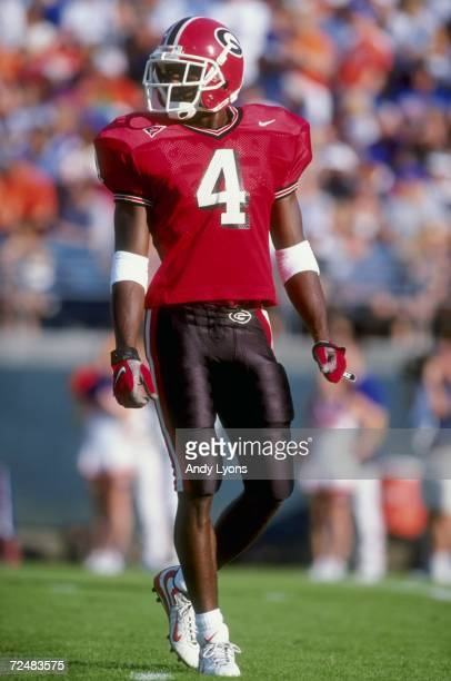 Cornerback Champ Bailey of the Georgia Bulldogs looks on during the game against the Florida Gators at the Alltell Stadium in Jacksonville Florida...
