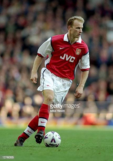 Dennis Bergkamp of Arsenal in action during the FA Carling Premiership match against Southampton at Highbury in London The game ended 11 Mandatory...