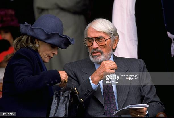 Hollywood legend Gregory Peck at the Prix de L''Arc de Triomphe at Longchamp in Paris Mandatory Credit Phil Cole /Allsport