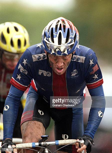 Lance Armstrong of the USA in action during the mens elite road race during the World Road Cycling Championships between Valkenburg and Maastricht in...