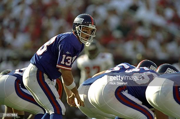 Quarterback Danny Kanell of the New York Giants in action during a game against the Tampa Bay Buccaneers at the Raymond James Stadium in Tampa...