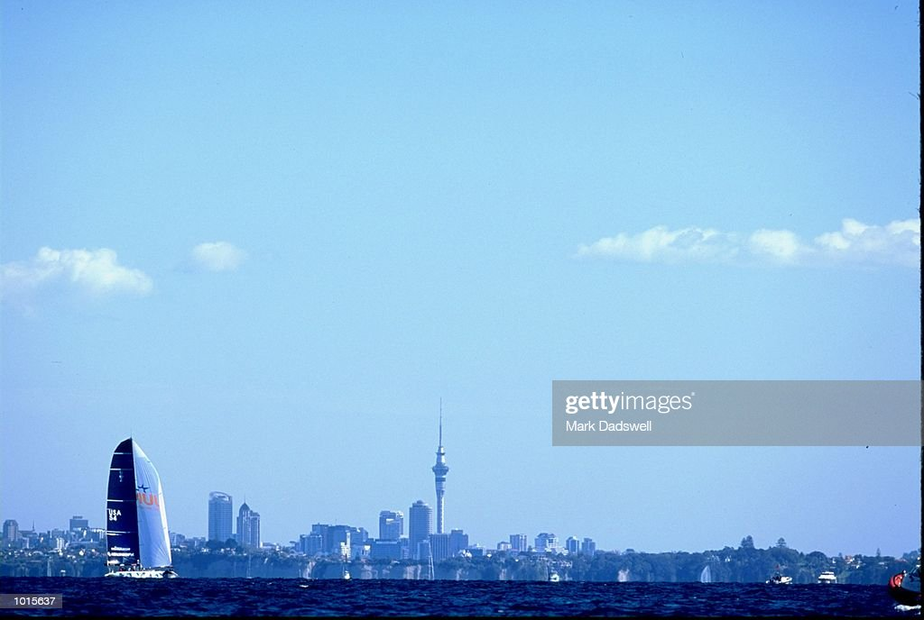A general view during Round 1 of the Louis Vuitton Cup held in Auckland, New Zealand. \ Mandatory Credit: Mark Dadswell /Allsport