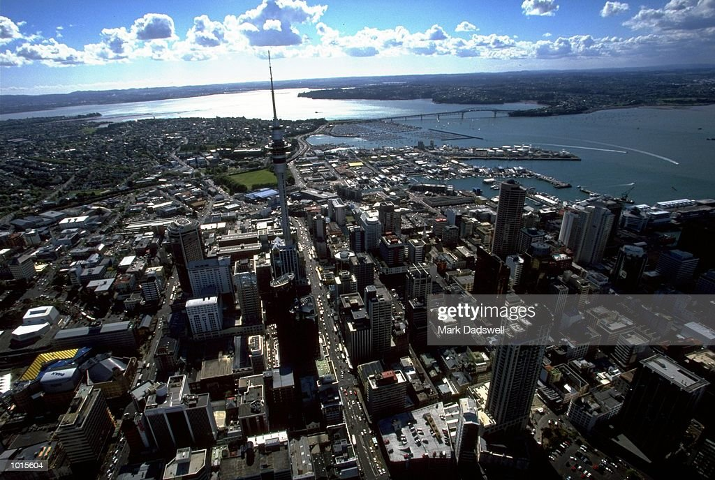 A general view of Auckland the location of the Louis Vuitton Cup in Auckland, New Zealand. \ Mandatory Credit: Mark Dadswell /Allsport