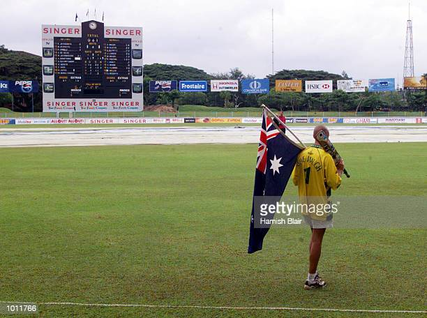 An Australian fan leaves the ground on day five of the 3rd Test between Sri Lanka and Australia at Singhalese Sports Club Colombo Sri LankaX...