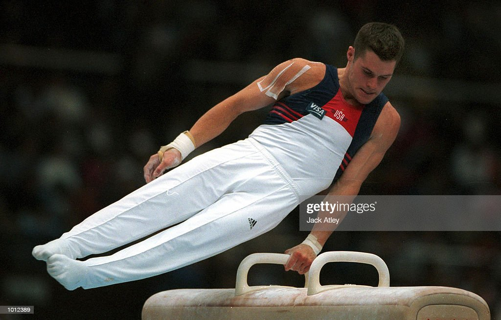 Blaine Wilson of the United States performs his pommel horse routine during the all round individual mens competition final at the 1999 Tianjin World Gymnastics Championships, Tianjin, China. Blaine finished in fourth place overall. Mandatory Credit: Jack Atley/ALLSPORT