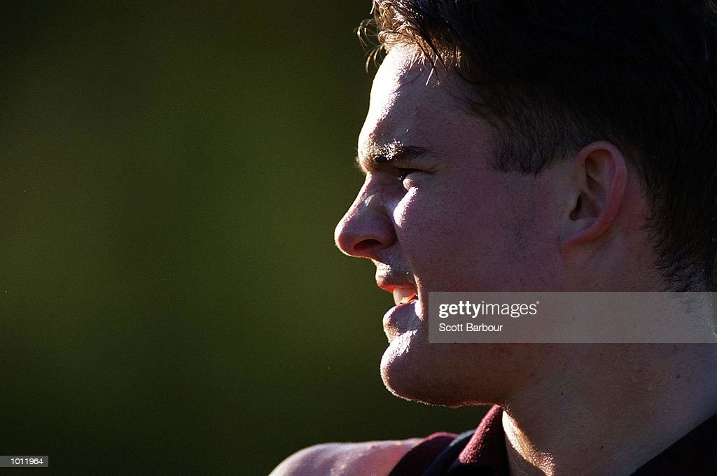 Brad Green from the Tassie Mariners concentrates during the sixth AFL National Draft Camp held at the Australian Institute of Sport, Canberra, Australia. Mandatory Credit: Scott Barbour/ALLSPORT
