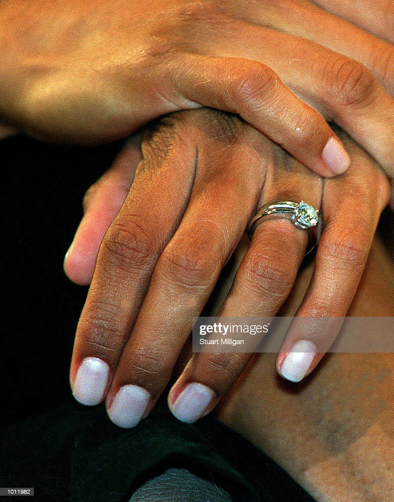 Cathy Freeman has her Wedding ring on display during a Press Conference regarding her World Championship victory in the womens 400m in Spain and her recent marriage. The press conference was held at the Hyatt Hotel, Melbourne, Australia. Mandatory Credit: Stuart Milligan/ALLSPORT