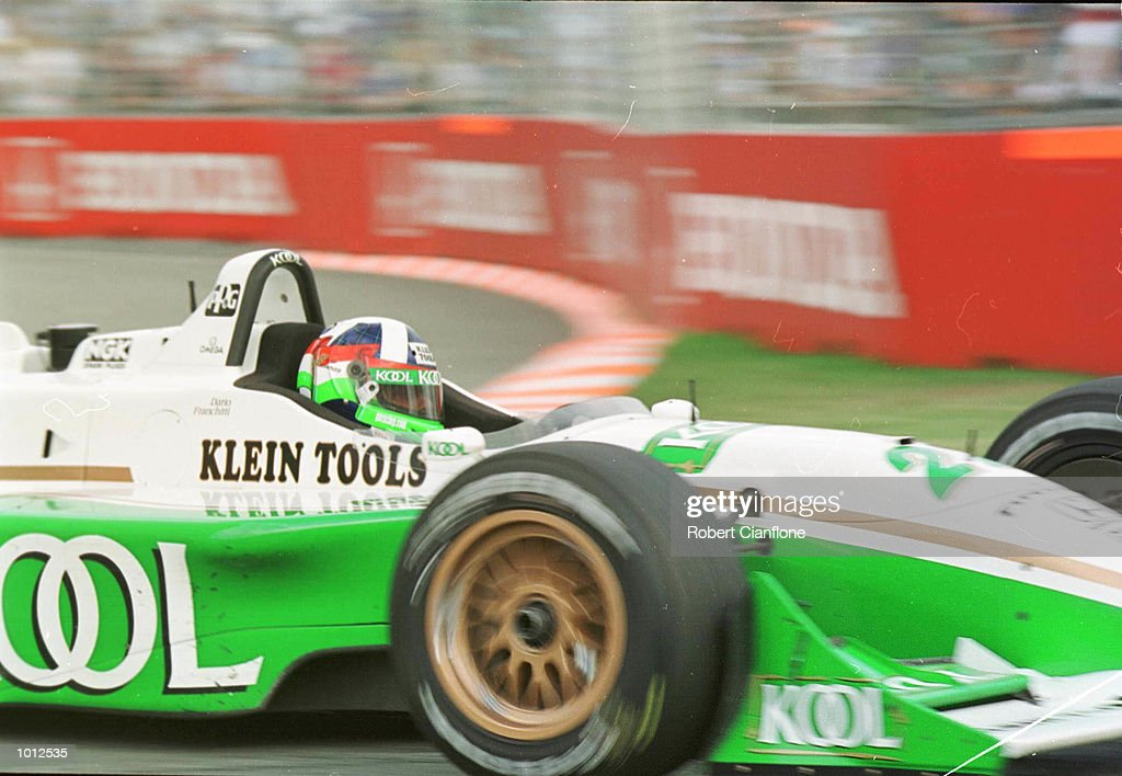 Dario Franchitti of Team KOOL Green in the Honda Reynard races during the Honda Indy 300, round 19 of the CART FedEx Championship Series at the Gold Coast, Queensland, Australia. The race was won by Dario Franchitti of Team KOOL Green. Mandatory Credit: Rob Cianflone/ALLSPORT