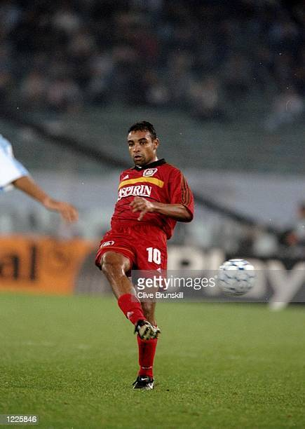 Emerson of Bayer Leverkusen in action during the UEFA Champions League Group A match between Lazio and Bayer Leverkusen played at the Stadio Olimpico...