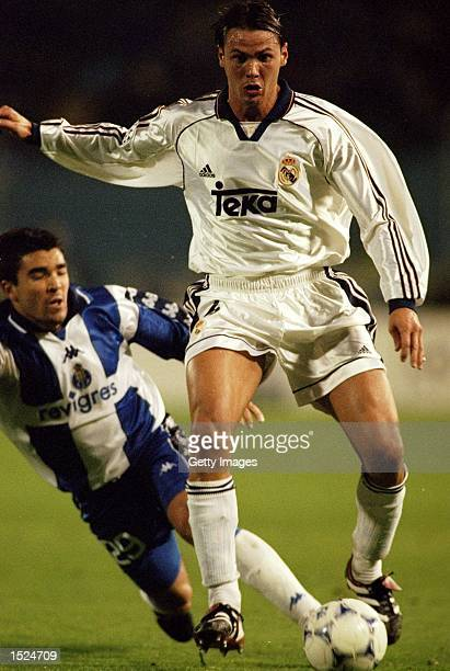 Fernando Redondo of Real Madrid in action during the UEFA Champions league game between FC Porto and Real Madrid at the Estadio Das Antas in Porto...