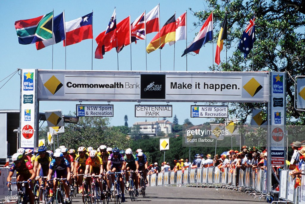 General view during the 1999 Commonwealth Bank cycle classic at Centennial Park,Sydney Australia. Mandatory Credit: Scott Barbour/ALLSPORT