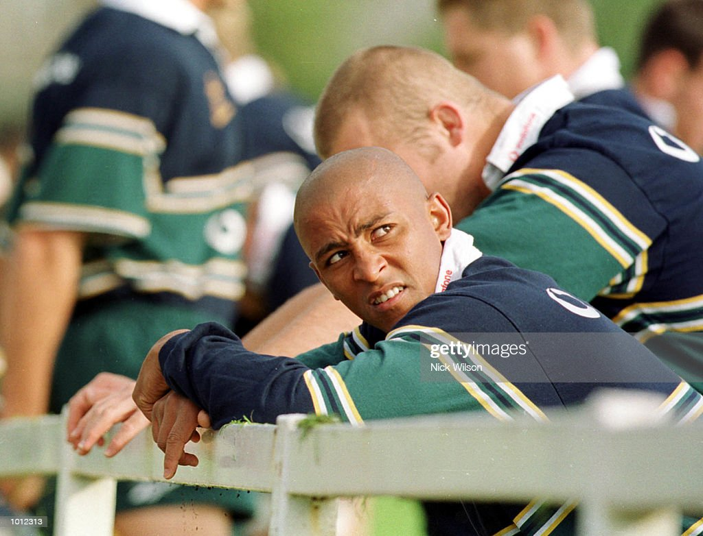 George Gregan of Australia talks with teamates during Australia training at the Young Munster Ground, Limerick, Ireland, as Australia prepare for their final Pool E Rugby World Cup match against the USA. Mandatory Credit: Nick Wilson/ALLSPORT