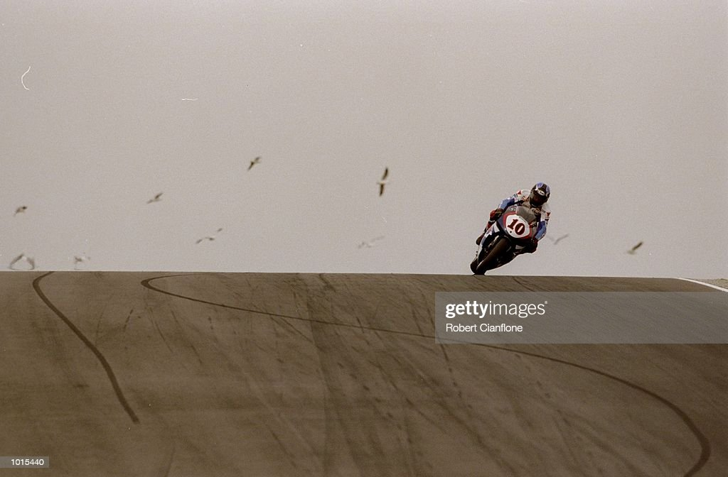 Kenny Roberts Jnr of the USA in action during the 500cc race at the Australian Motorbike Grand Prix held at Phillip Island in Victoria, Australia. \ Mandatory Credit: Robert Cianflone /Allsport