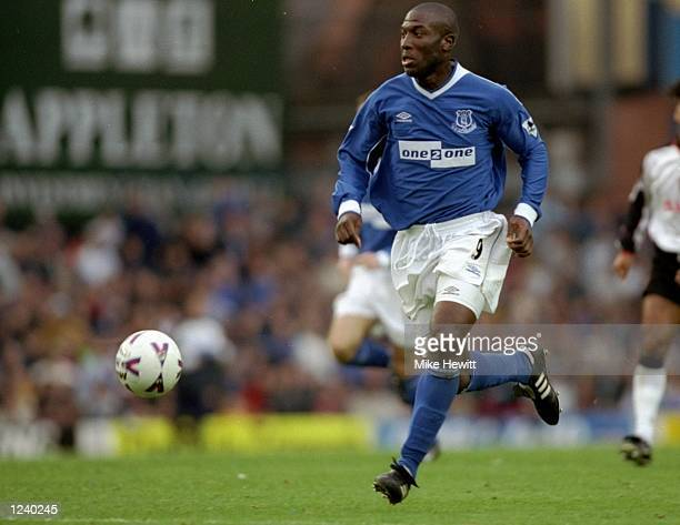 Kevin Campbell of Everton in action during the Everton v Coventry City FA Carling Premier League match played at Goodison Park Liverpool England The...
