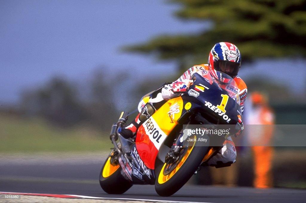 Michael Doohan of Australia in action during the 500cc race at the Australian Motorbike Grand Prix held at Phillip Island in Victoria, Australia. \ Mandatory Credit: Jack Atley /Allsport
