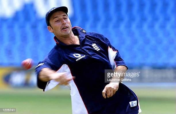 Nasser Hussain of England in action during training at the Centurion Park cricket ground in Pretoria South Africa Mandatory Credit Laurence...