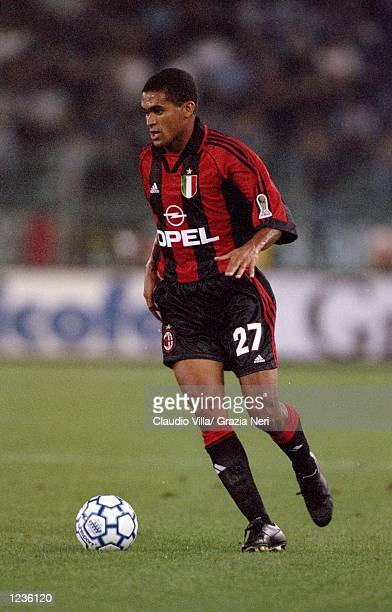 Serginho of AC Milan on the ball against Lazio during the Serie A match at the Stadio Olimpico in Rome Italy Mandatory Credit Claudio Villa /Allsport
