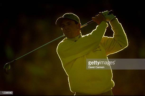 Sergio Garcia of Spain in action during the Alfred Dunhill Cup played at The Old Course St Andrews Scotland Mandatory Credit David Cannon /Allsport