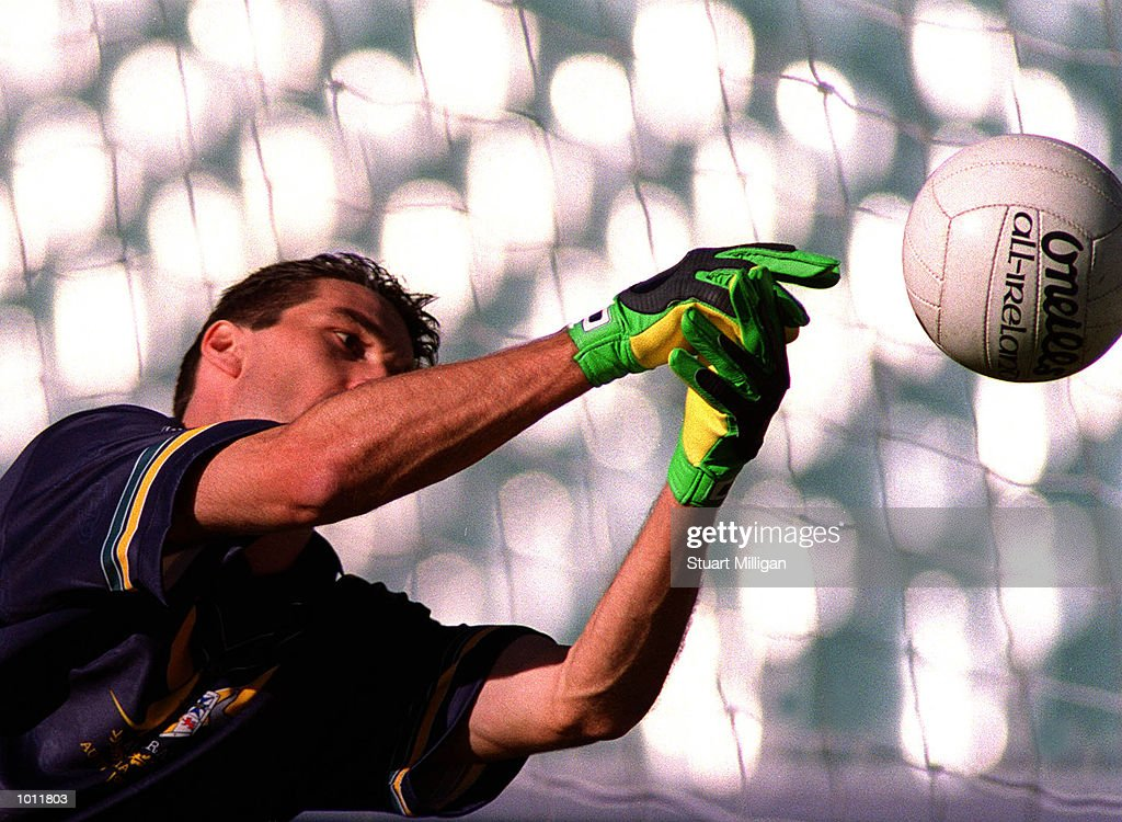 Stephen Silvagni Goalkeeper for the Australian side makes a save during training in preparation for the International Rules match to be played on Friday night between Australia and Ireland, at the Melbourne Cricket Ground, Melbourne, Australia. Mandatory Credit: Stuart Milligan/ALLSPORT