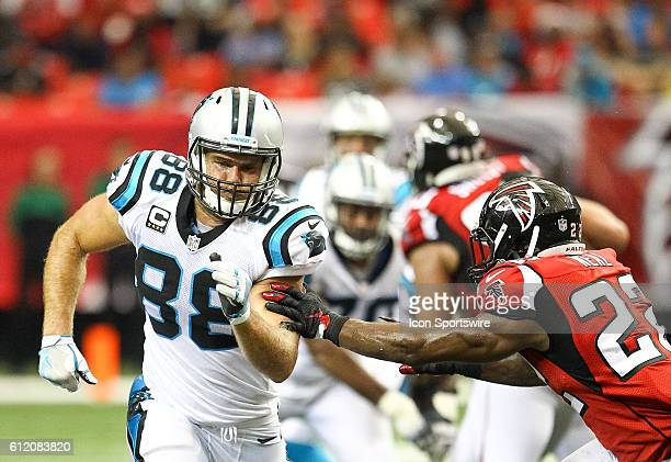 Atlanta Falcons strong safety Keanu Neal had to stick with Carolina Panthers tight end Greg Olsen all day during the NFL game between the Carolina...